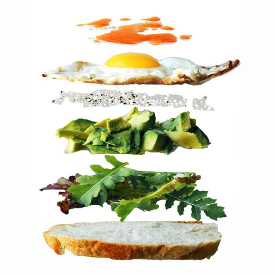 OPEN-FACED FRIED EGG SANDWICH
