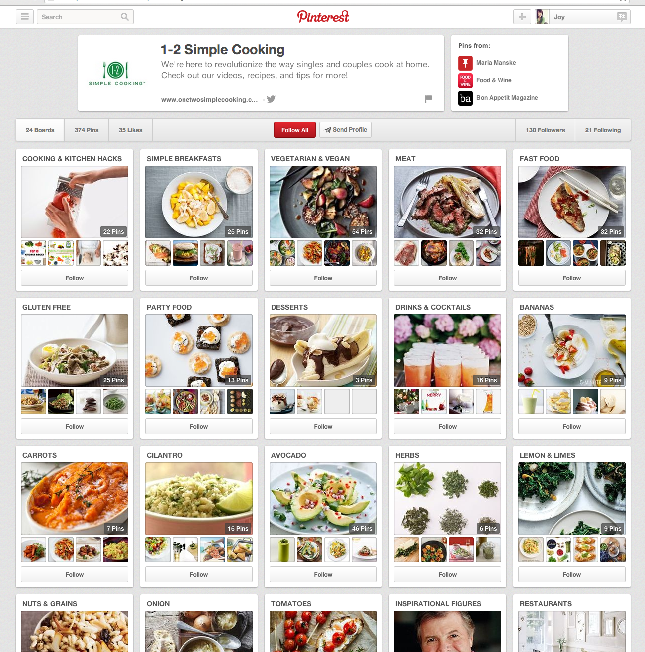 1 2 simple cooking pinterest