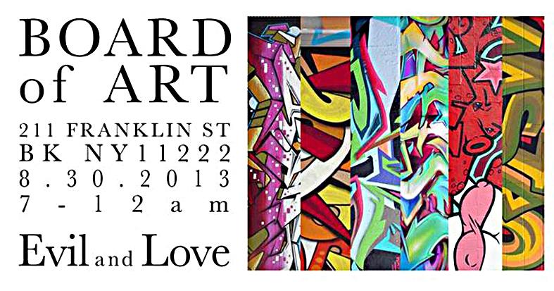 Flyer da exposição que aconteceu dentro da Evil and Love Tattoo Shop / Brooklyn.