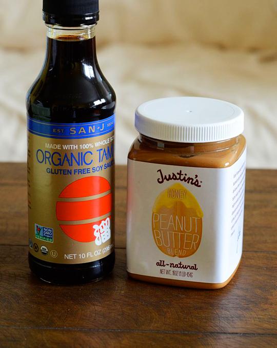 Tamari and organic peanut butter