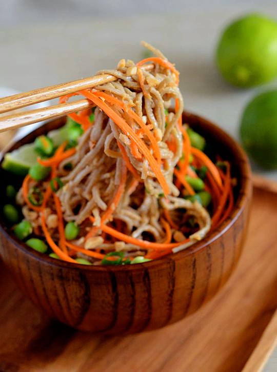 Peanut Lime Soba Noodles