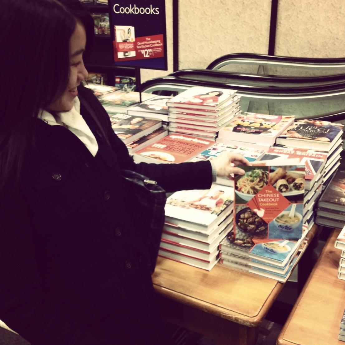 Signing a few display copies at Barnes & Noble