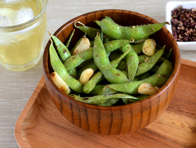 Garlic Edamame with Sichuan Pepper | Appetite for China