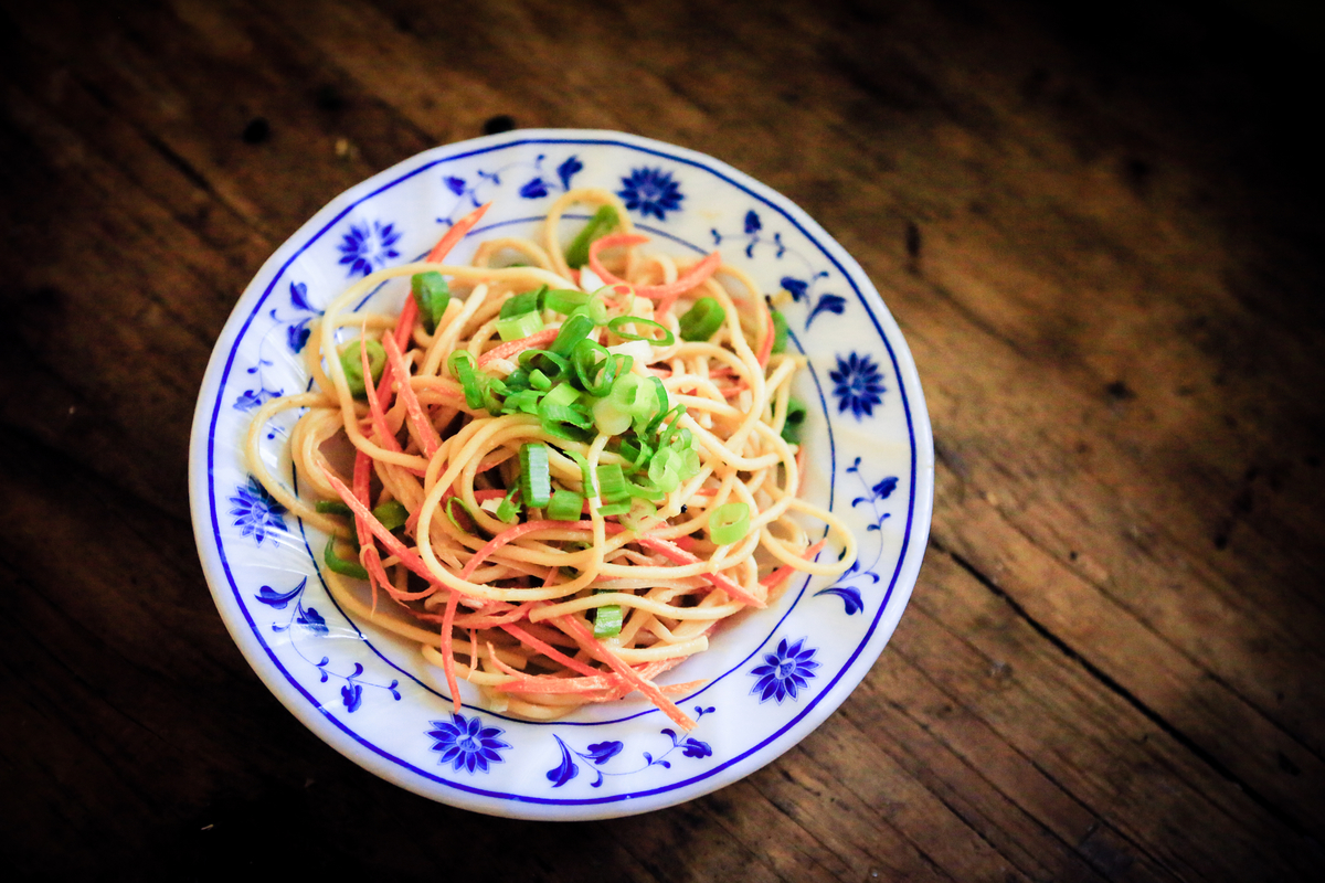 Curry leaf cold sesame noodles