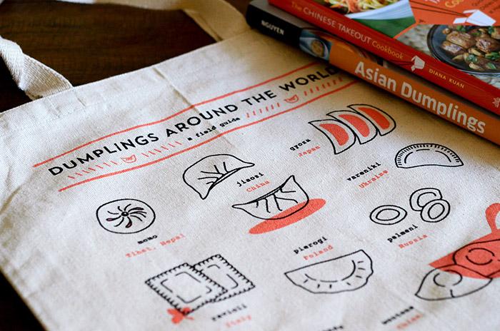 Dumplings Around the World tote bags.jpg