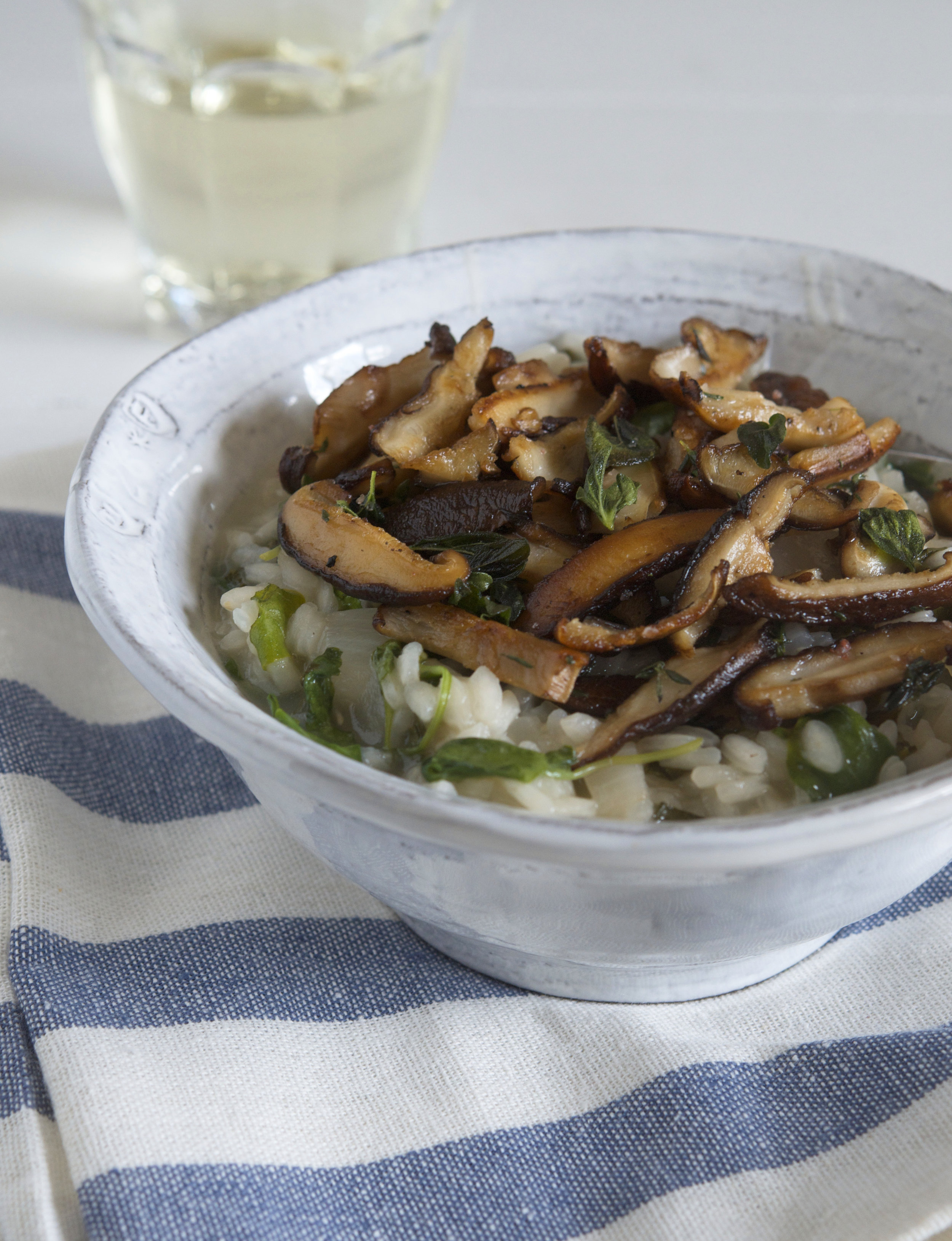 Shiitake and Watercress Risotto | Appetite for China