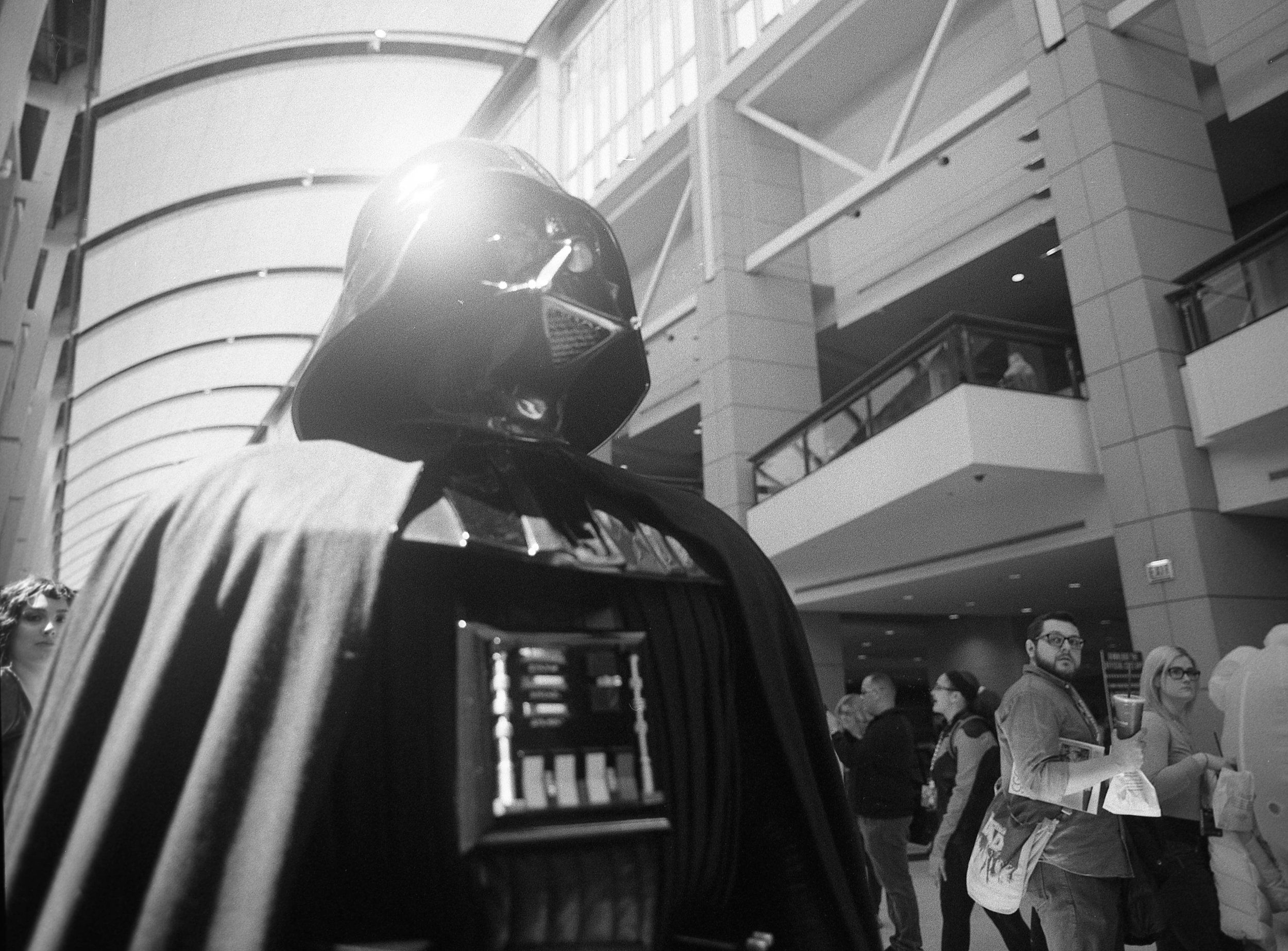 Darth Vader in the entrance hallway. There's amazing lighting here that it seems like photogs try to work against when shooting there.