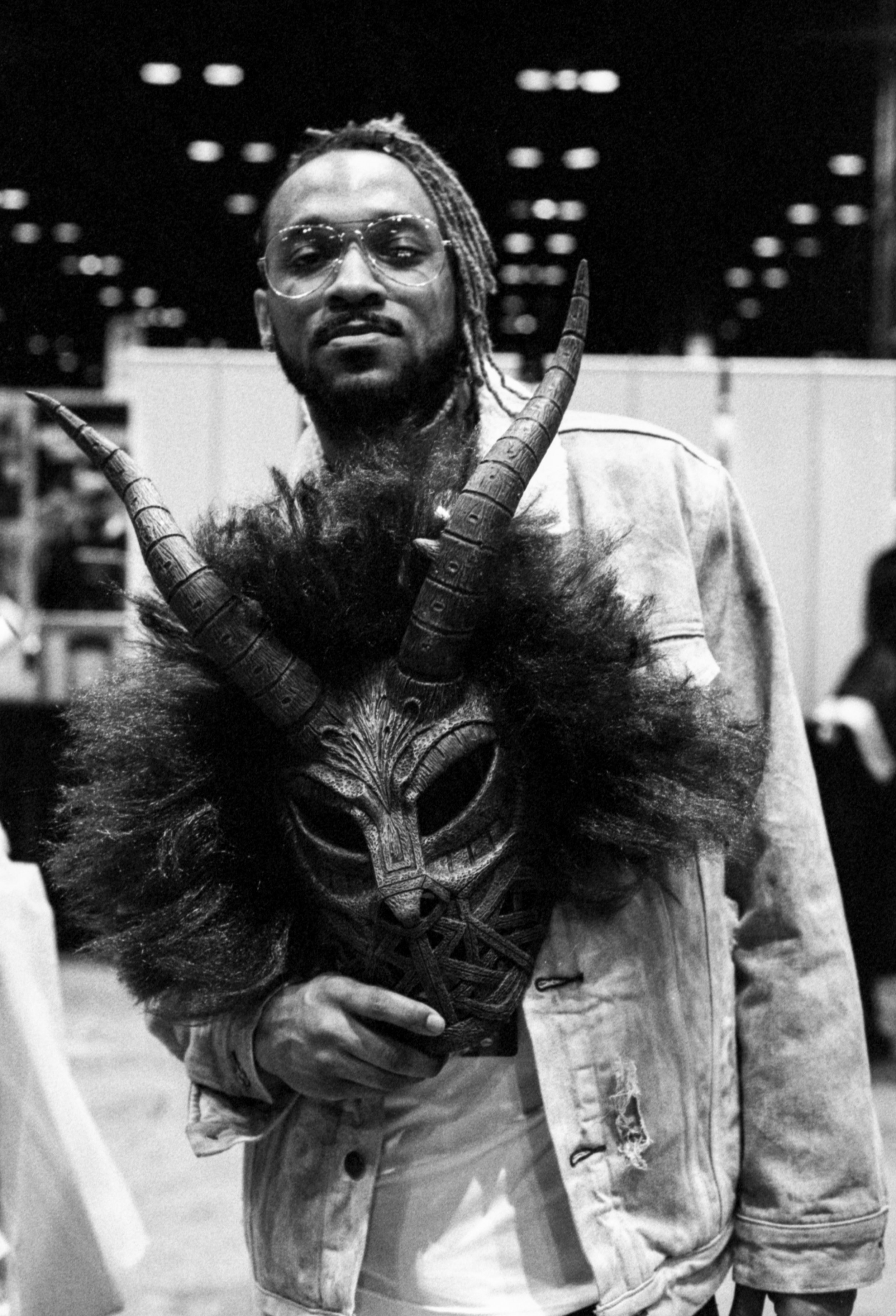 There was a lot of Black Panther cosplay, but this was one of my favorite low-key Killmonger looks.