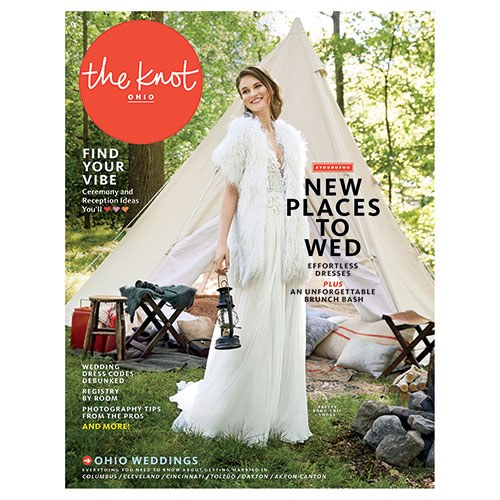 Featured in The Knot Ohio - A modern Vera Wang wedding on the rooftop of Juniper in Columbus, Ohio