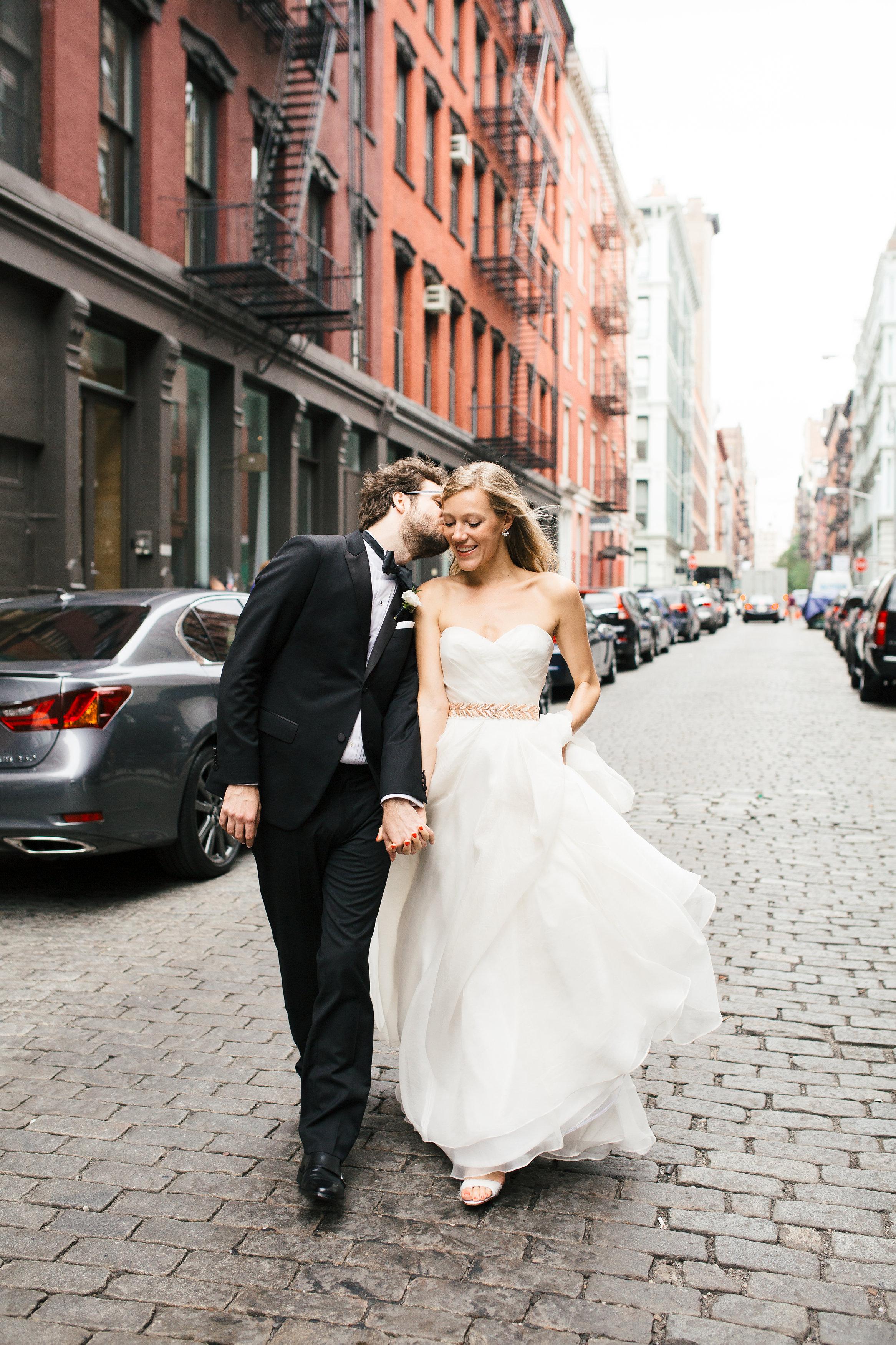 Soho Wedding Kiss