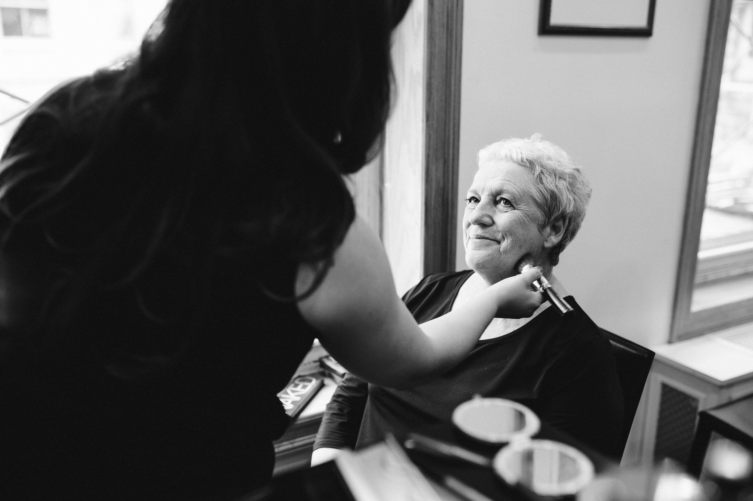 Soho Wedding Mother in Makeup