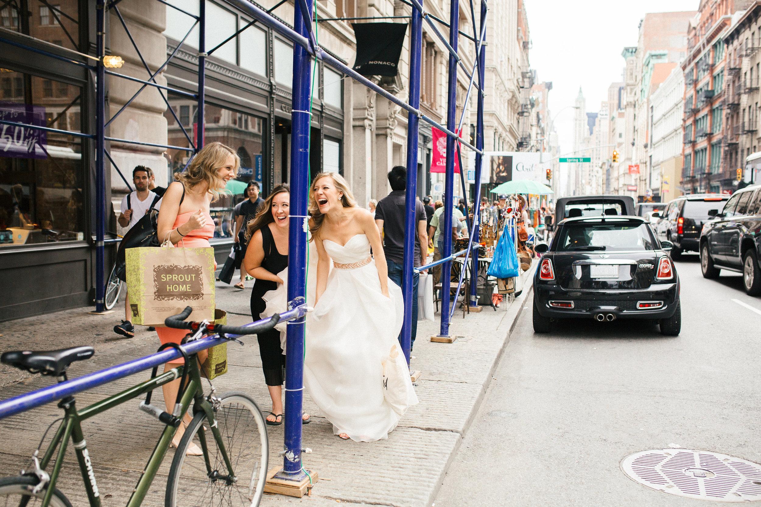 Bridesmaids in Soho