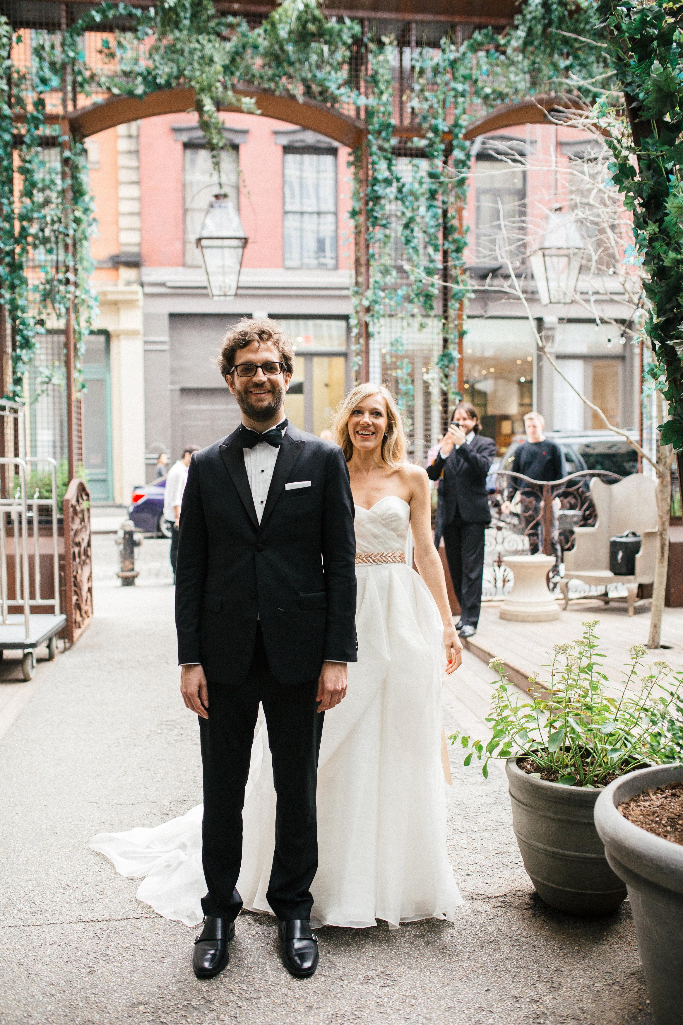 Soho Wedding Happy Couple
