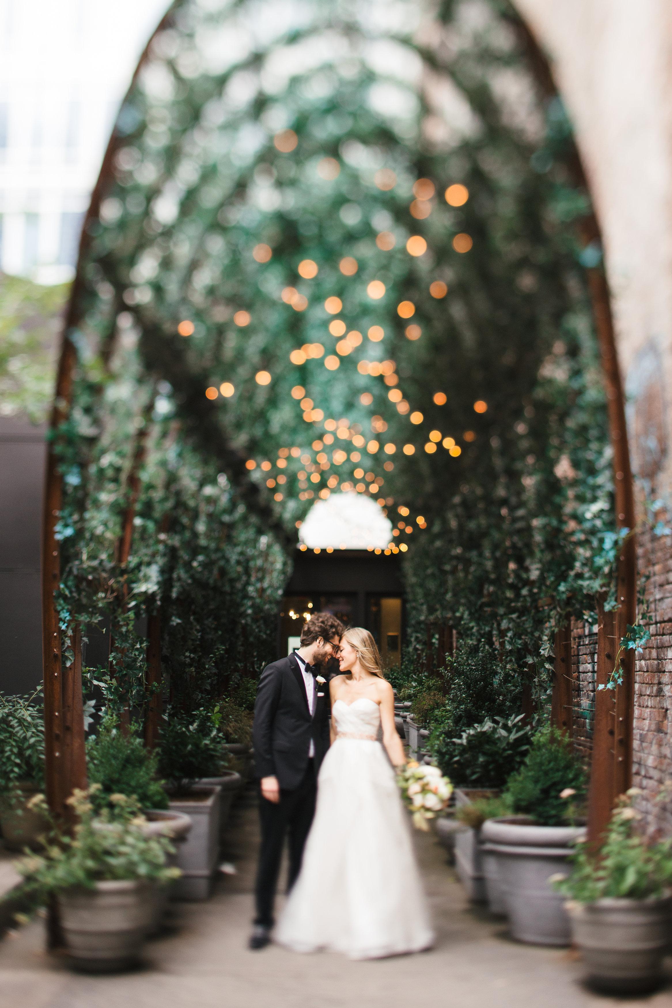 Soho Wedding lights Couple