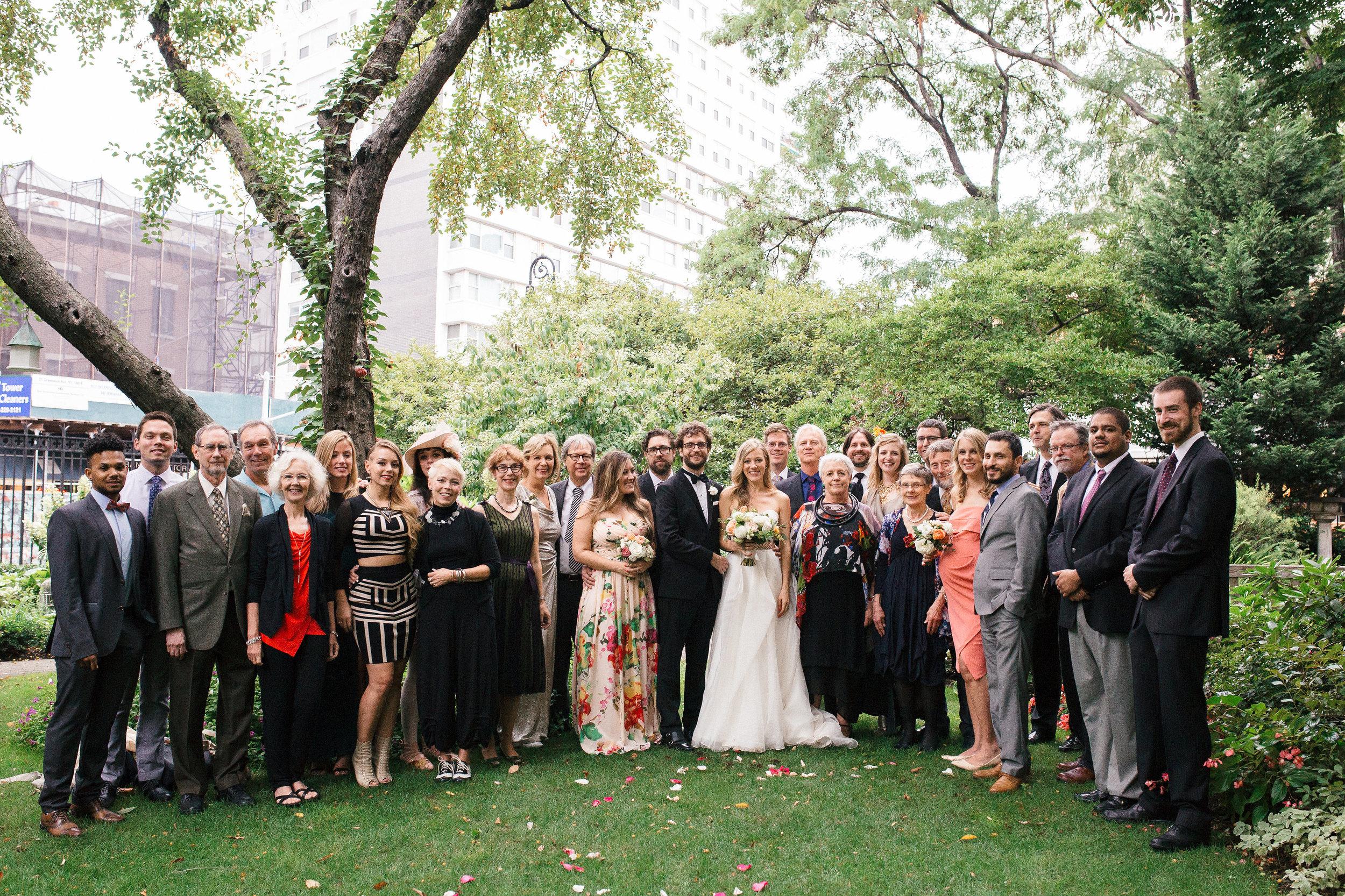 Entire Family Soho Wedding