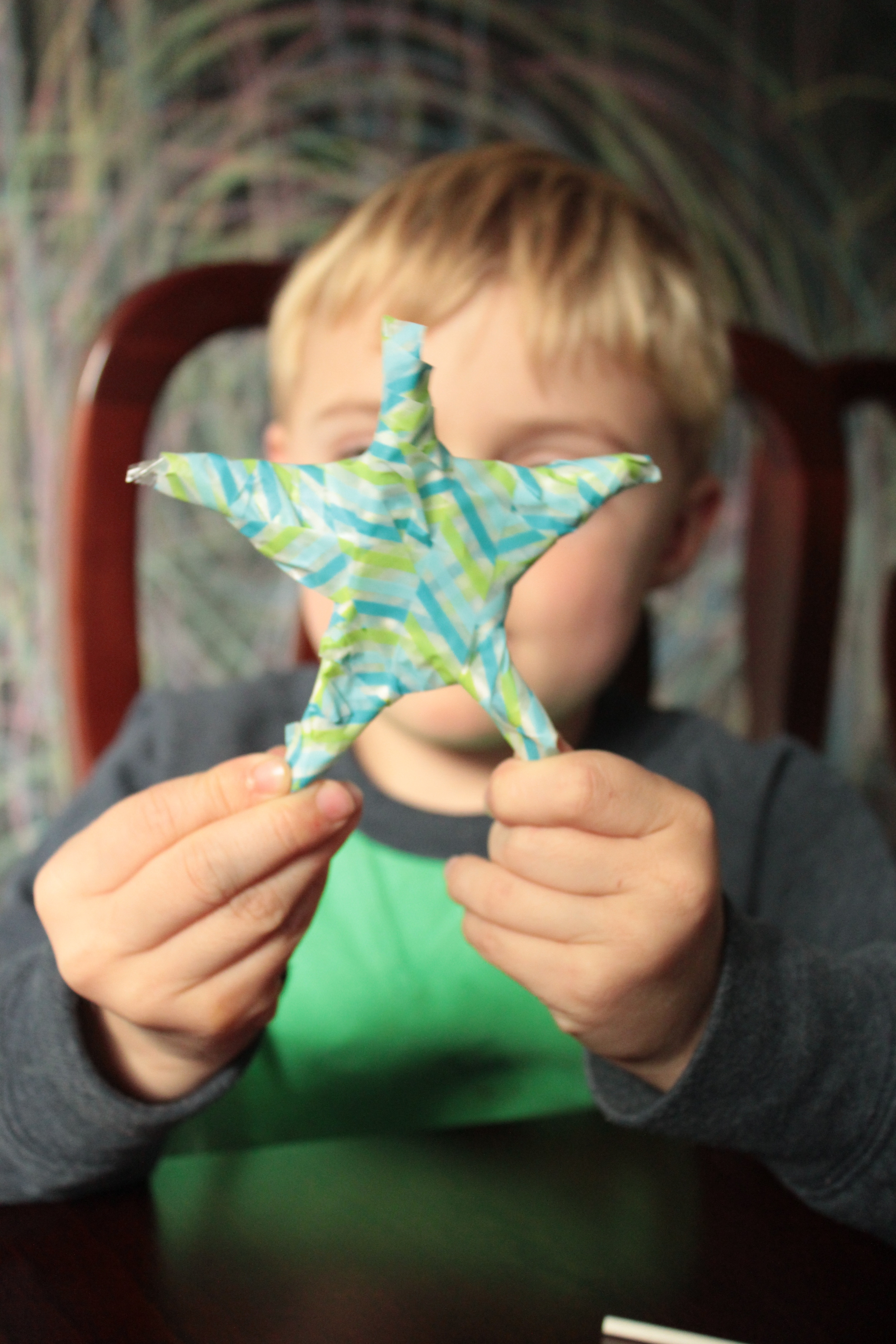 Finished covered star.