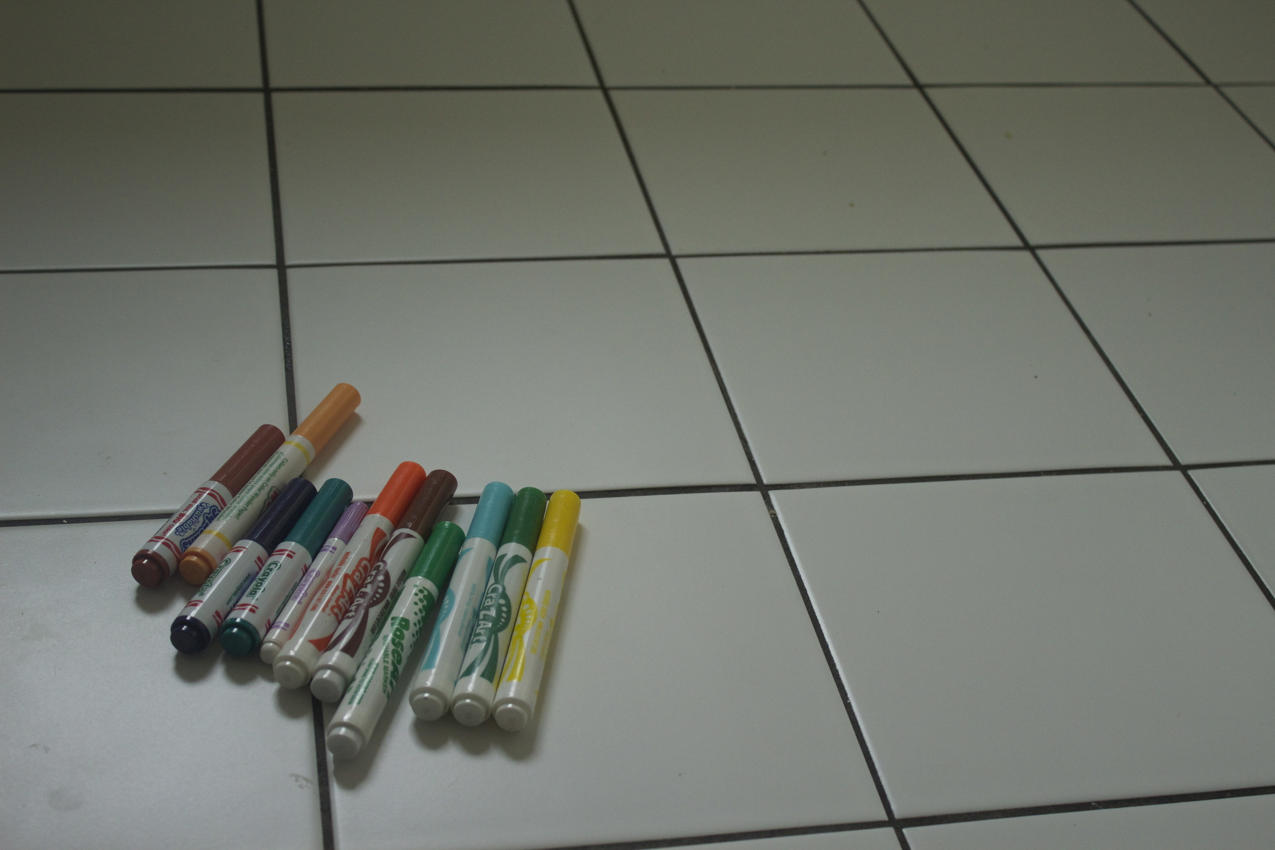 All you need washable markers and tile floor.