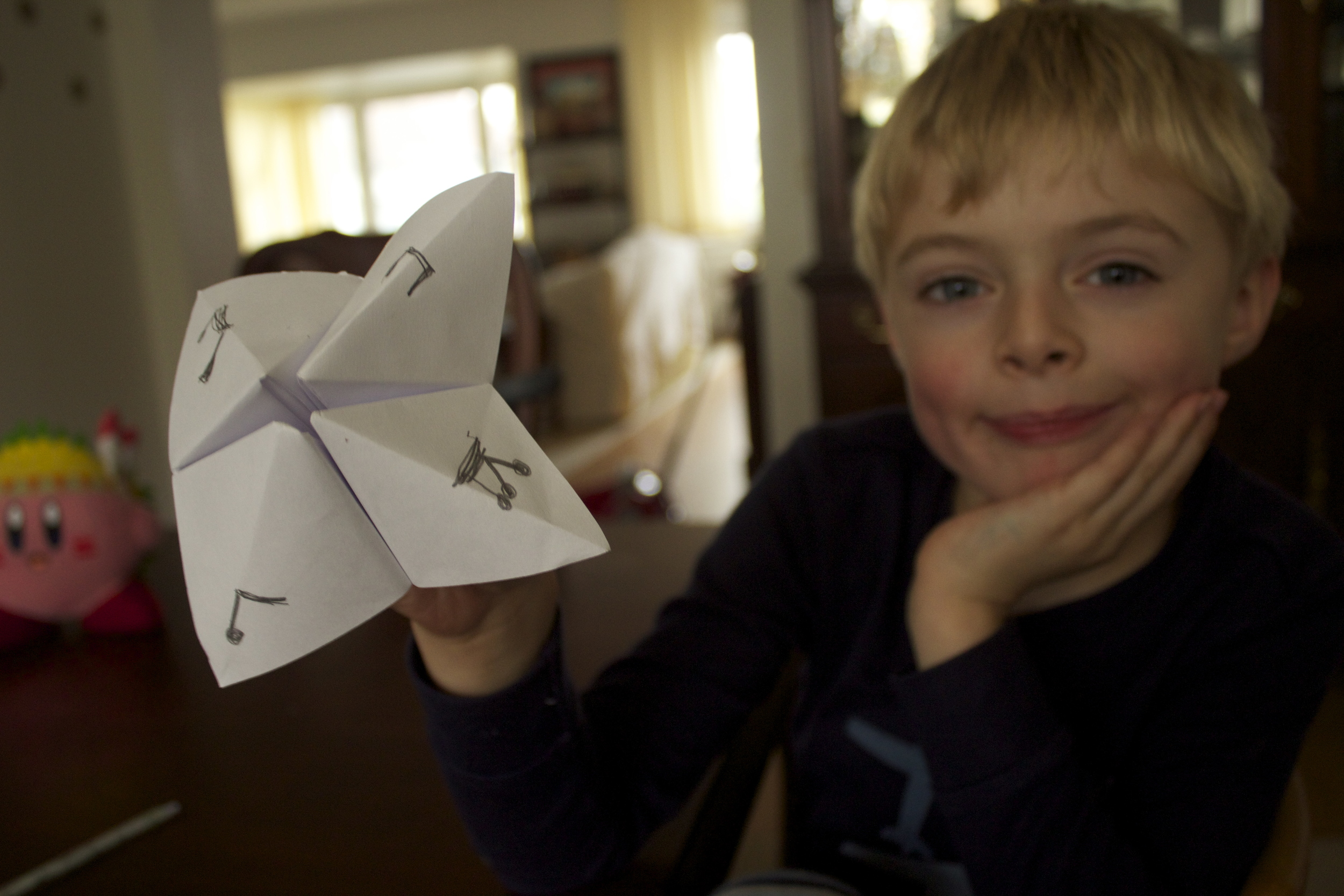 You should now have one of these. Some of you may remember it as the fortune telling paper game of middle school times.