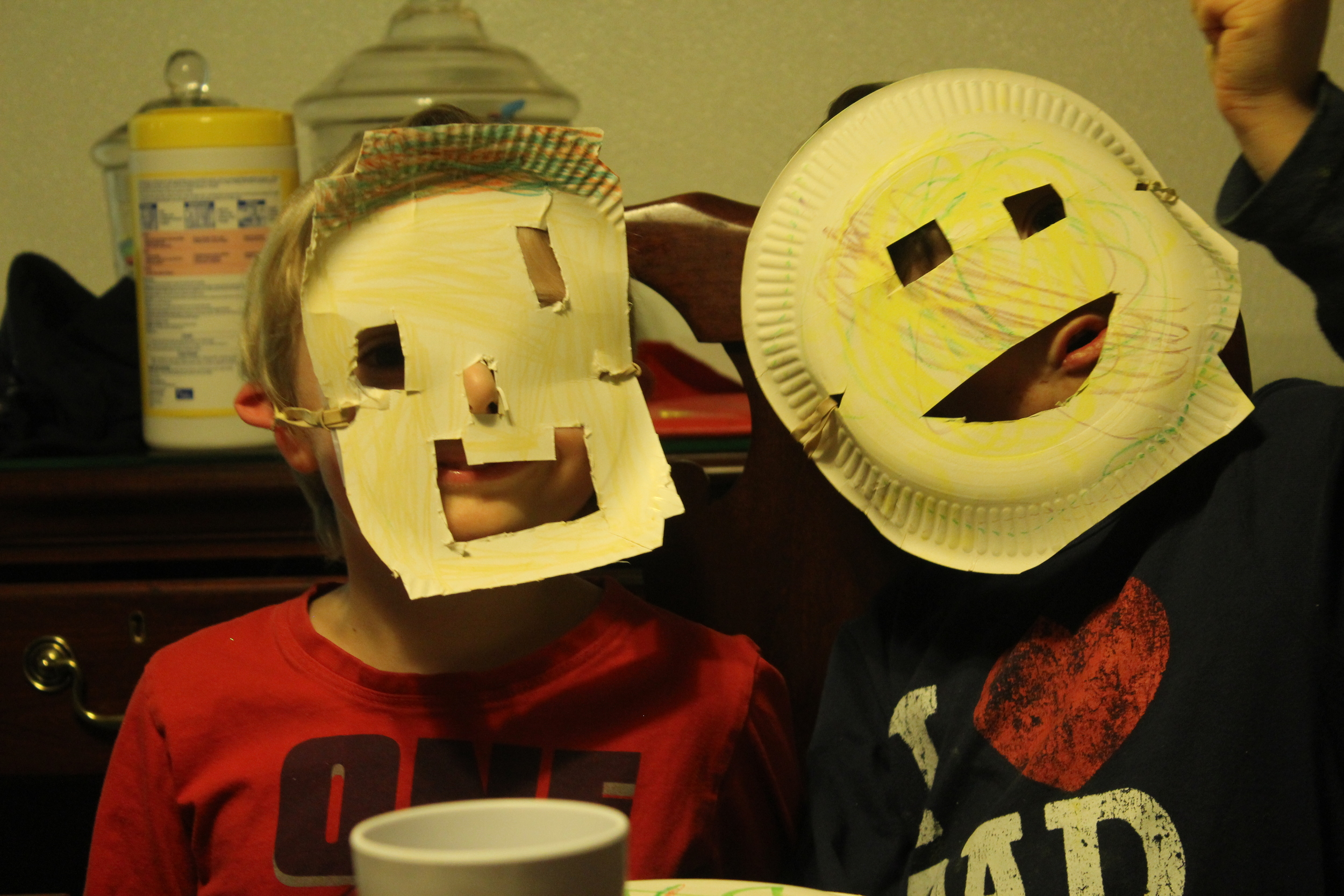 The boys final result for their masks.