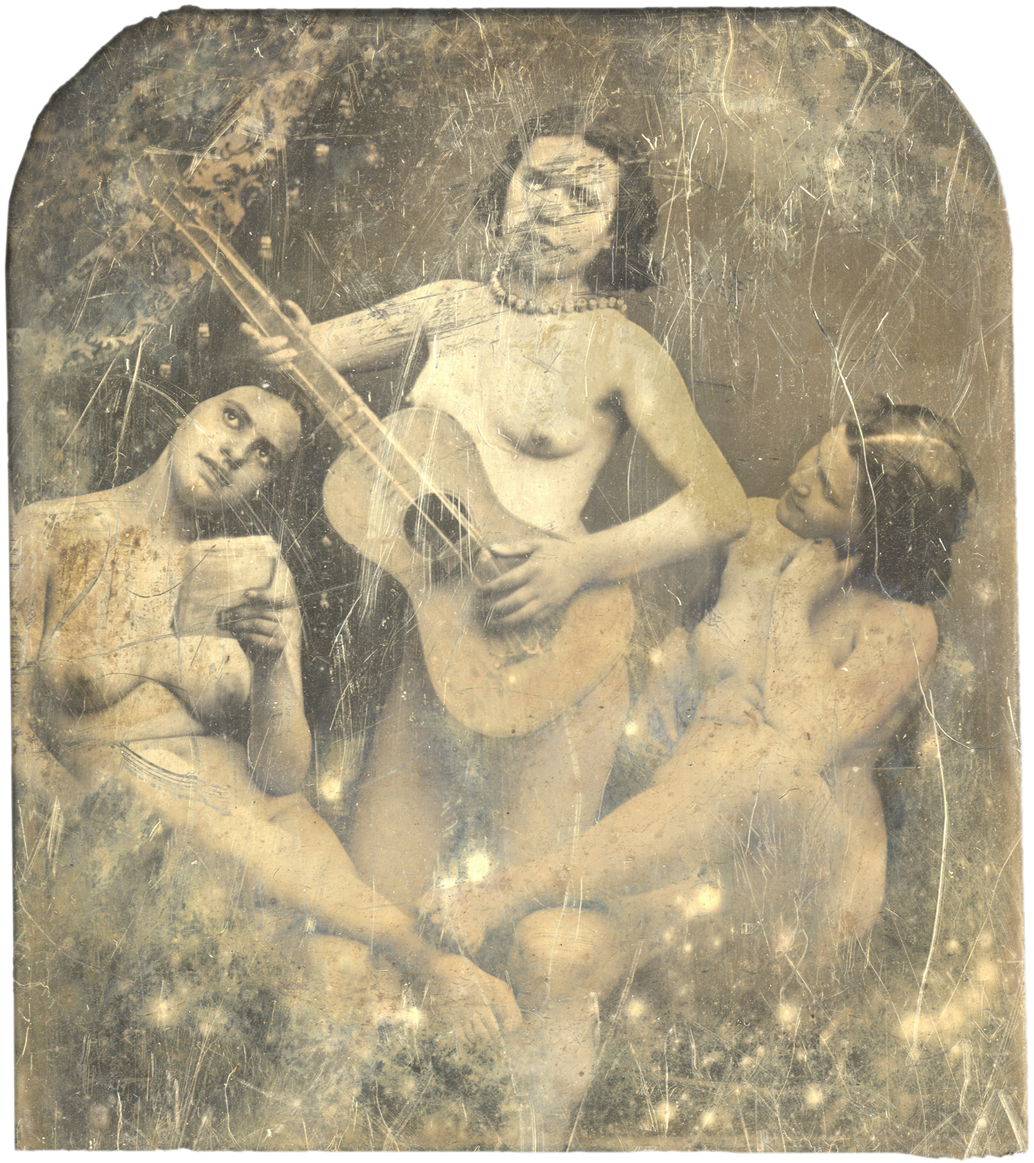 Young Nymphs with Guitar, 2011 - LR11594