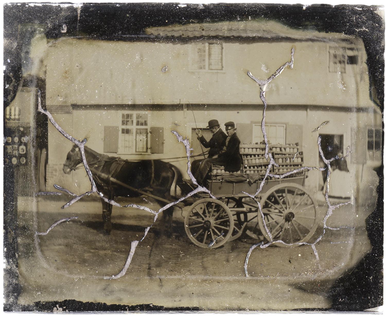 Horse-Drawn Milk Delivery Wagon, 2011 - LR12171