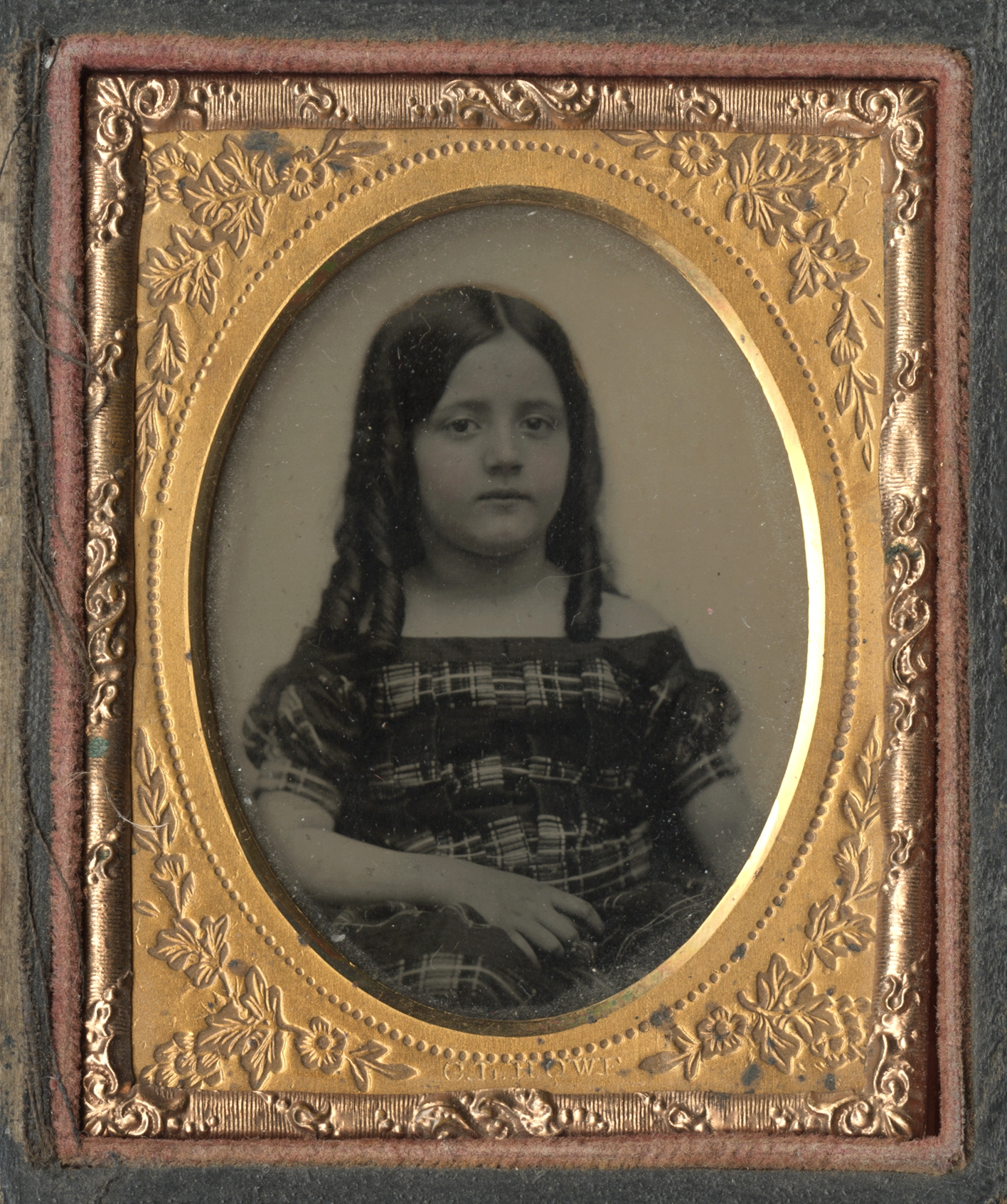 Portrait of a Young Girl with Long  Hair in Ringlets