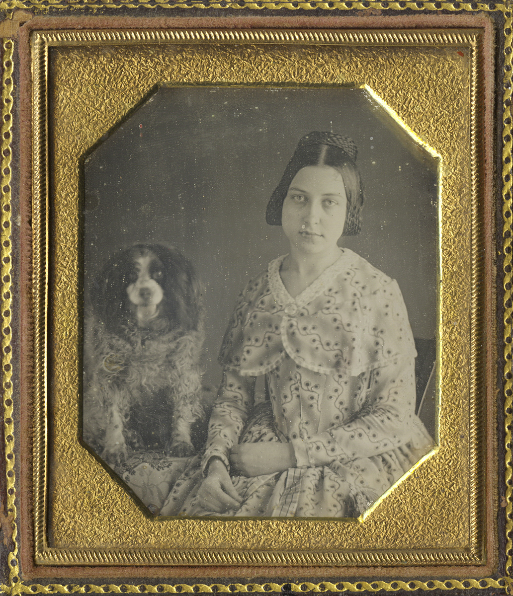 Portrait of a Lady with Her Spaniel