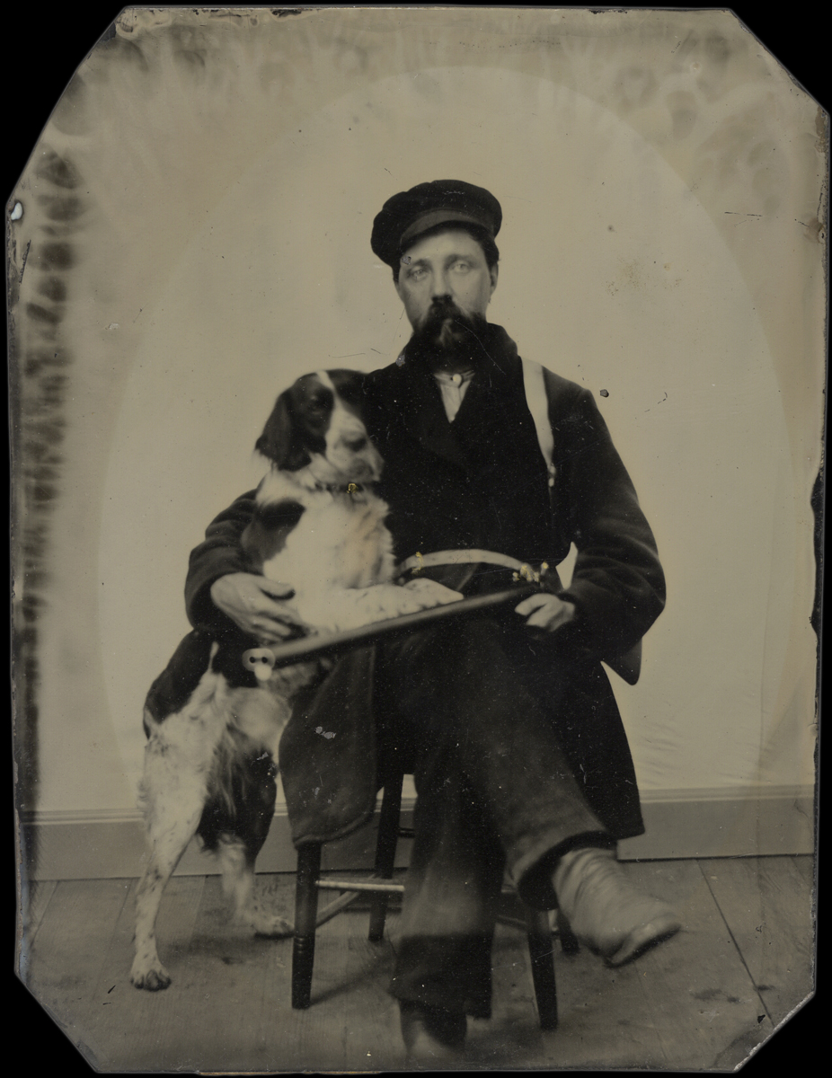 Portrait of a Hunter with his Retriever