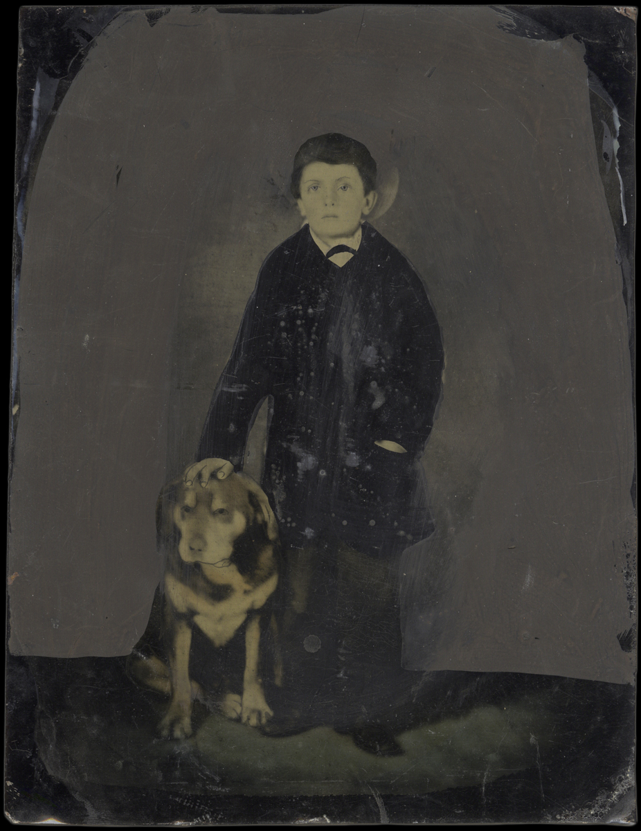 Portrait of a Standing Boy and his Dog