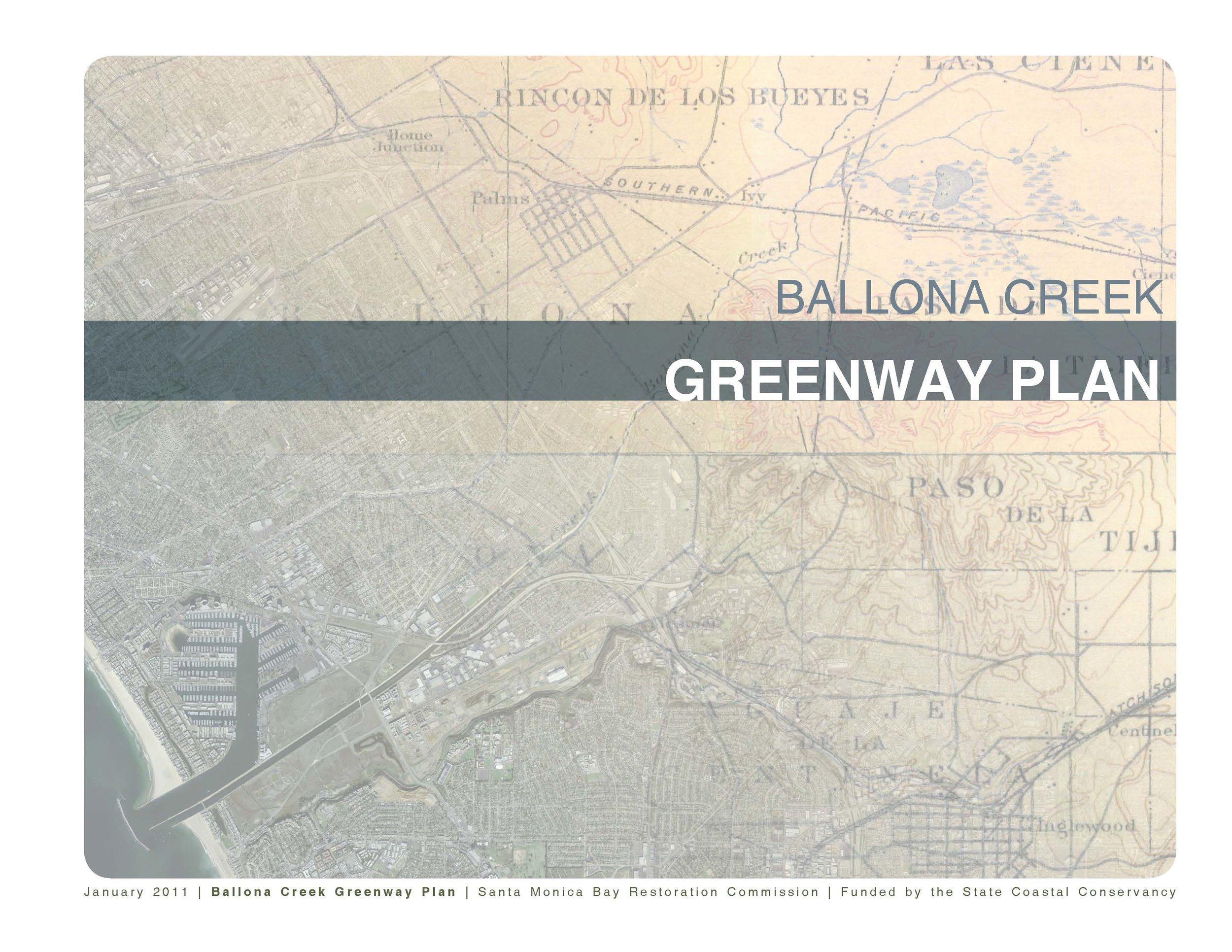 - Ballona Creek Greenway Plan (Santa Monica Bay Restoration Foundation)Westside Urban Forum Design Awards