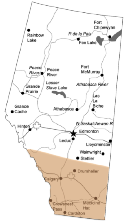Alberta, Canada    (NAPCReN highlighted in white)