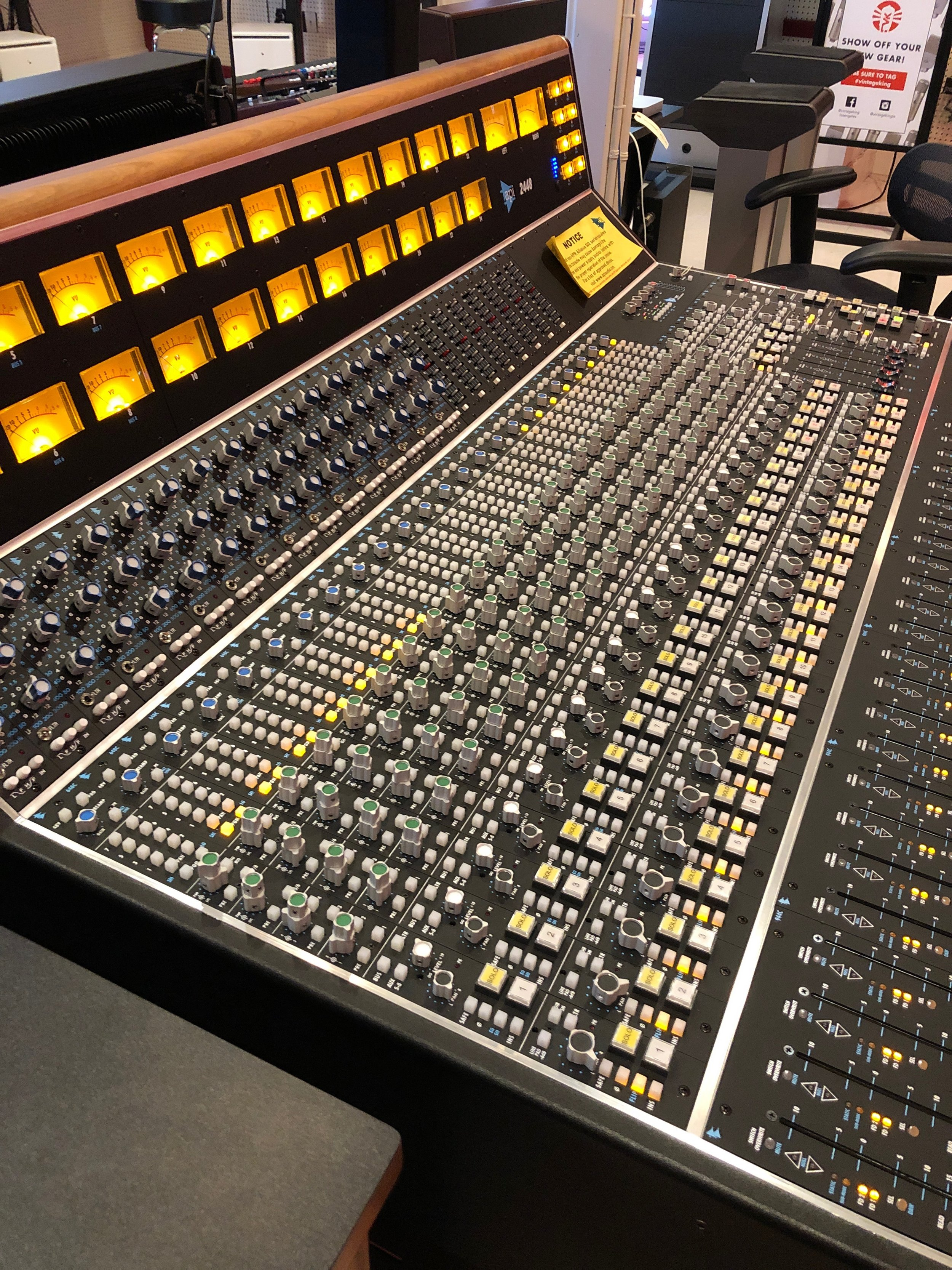 In the past few weeks I also made the mistake of learning about the new    API 2448   . We currently have a 32 channel API 1608 and the plan has been to put that in the new studio 1. We typically use half our console for mic lines / front end and half for pro tools returns. The new 2448 is an inline design, meaning it has 2 input paths per channel, so we could have pro tools outputs directly above mic lines and a 32 channel console would actually yield us an additional 16 mic lines to use and an additional 16 line inputs all at the same time. So, now I'm plotting and scheming for ways to save on other equipment, current equipment we could sell and places in the construction budget where we might still find some savings. Of course the lead time on one of these consoles from API is 3-4 months, so if we want a console when the doors open we need to get on the list! More info on this to come, but if anyone is looking to buy an excellent condition, practically new API 1608 let me know!