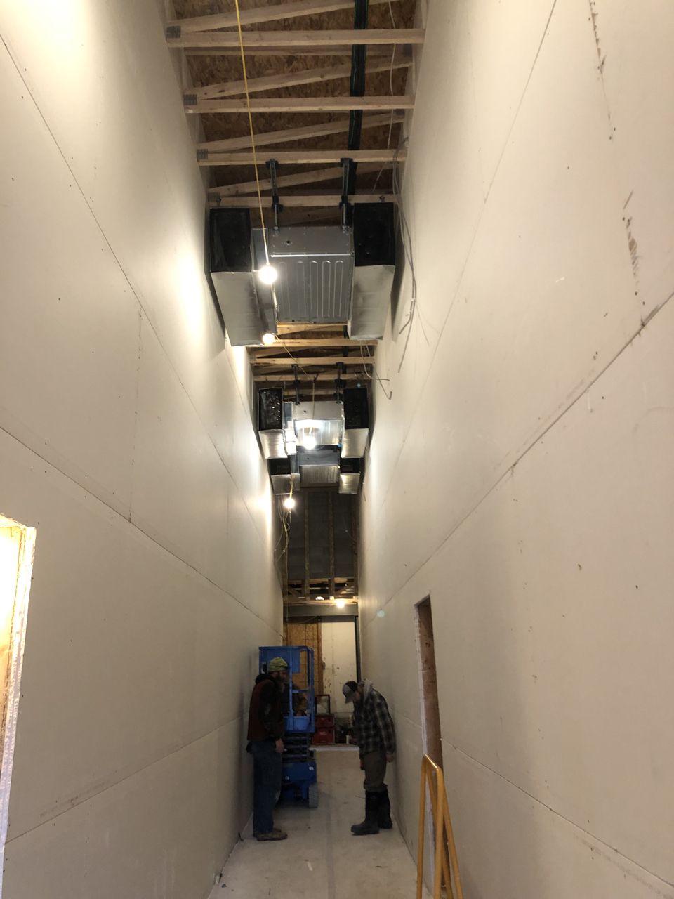 More work was done on the HVAC system until about mid-week when the guys came down with a pretty bad flu that is going around. Hopefully we will see some real progress next week.