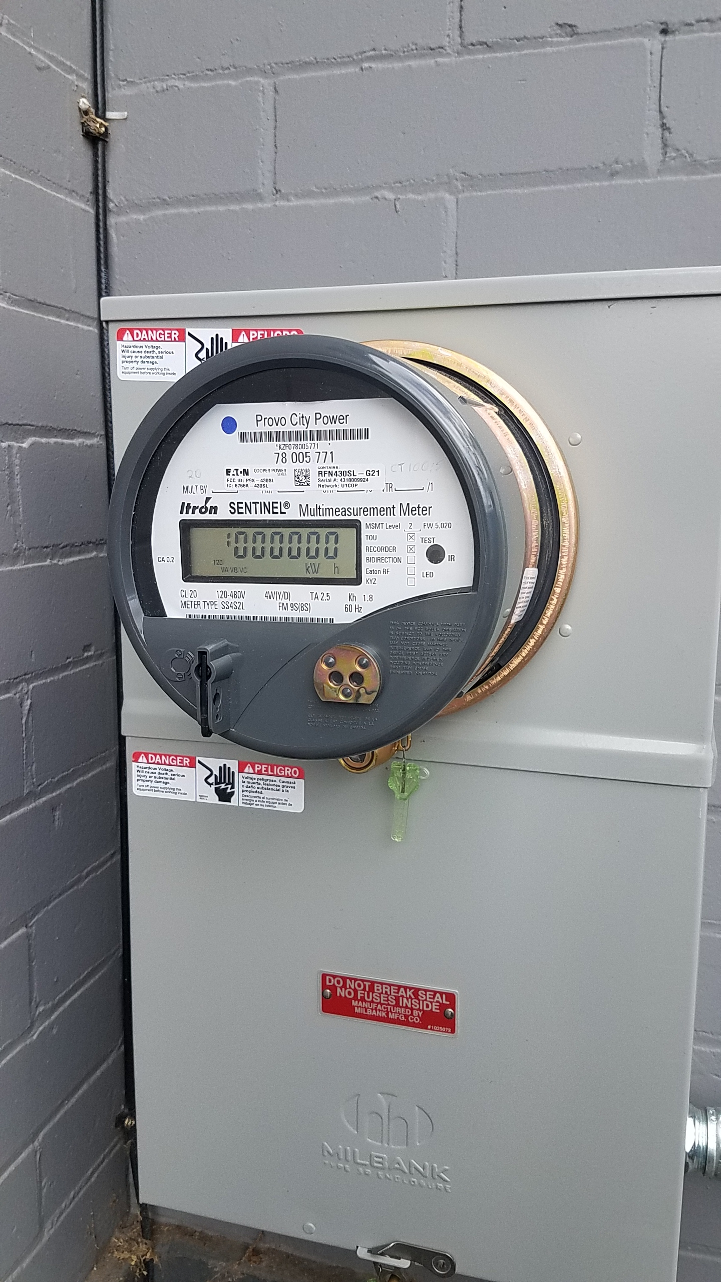 Provo City Power came out and got the new power service up and running. We are still on temporary power for the time being, but we have power into the new space awaiting the electricians finishing off the rough electrical.