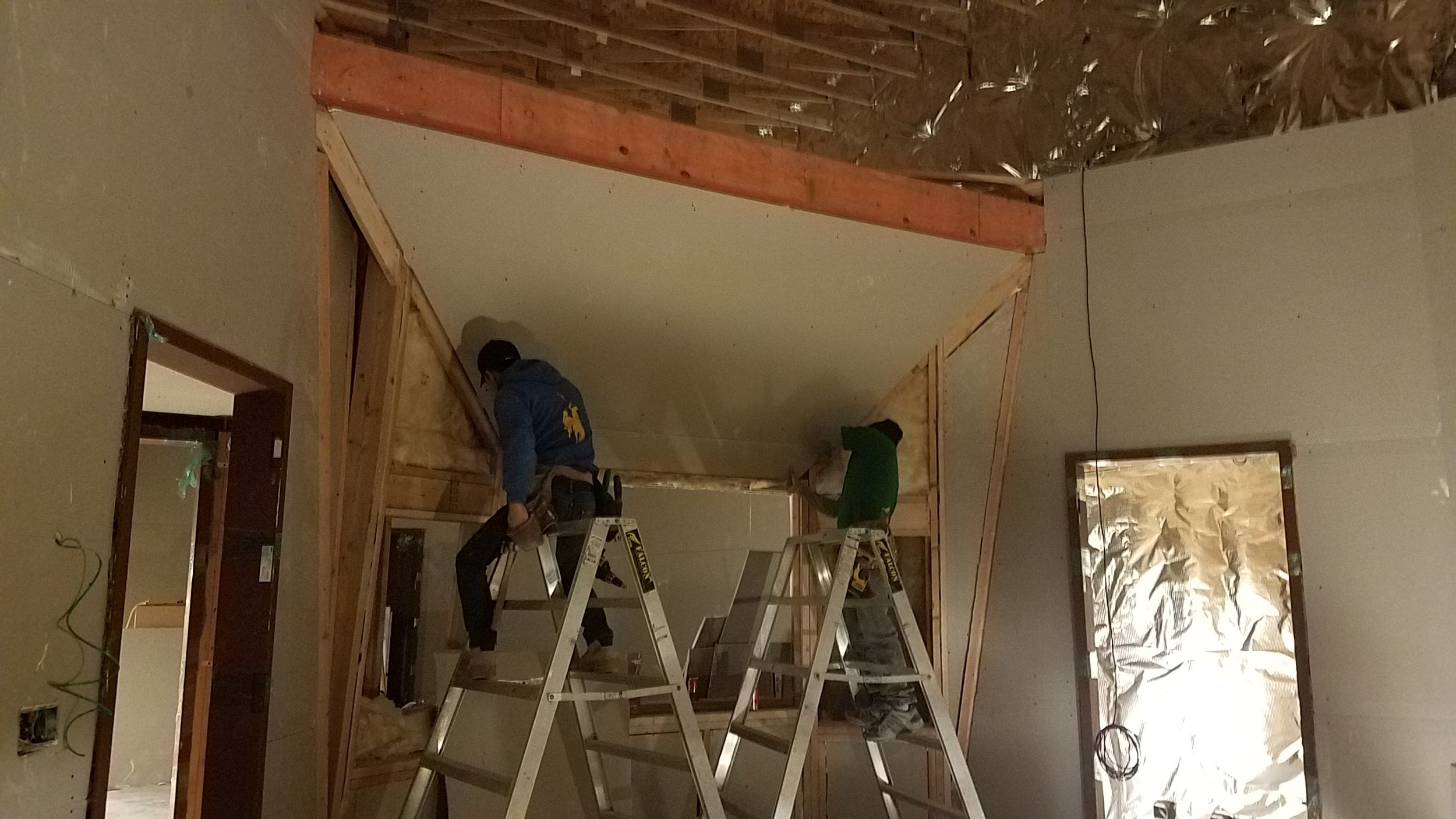 More sheetrock in control room 2.