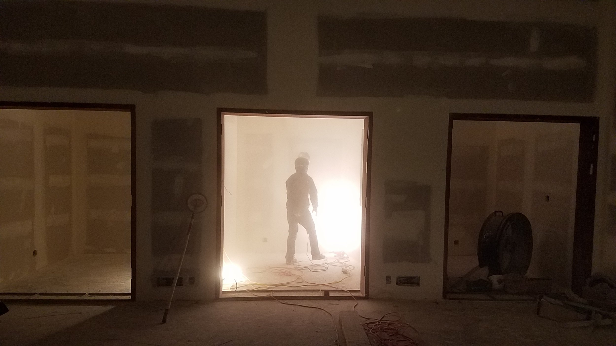 Lots of sheetrock sanding this week. Despite our best efforts the dust is everywhere, not just in the new building but in the house as well. Looking forward to this phase being complete.