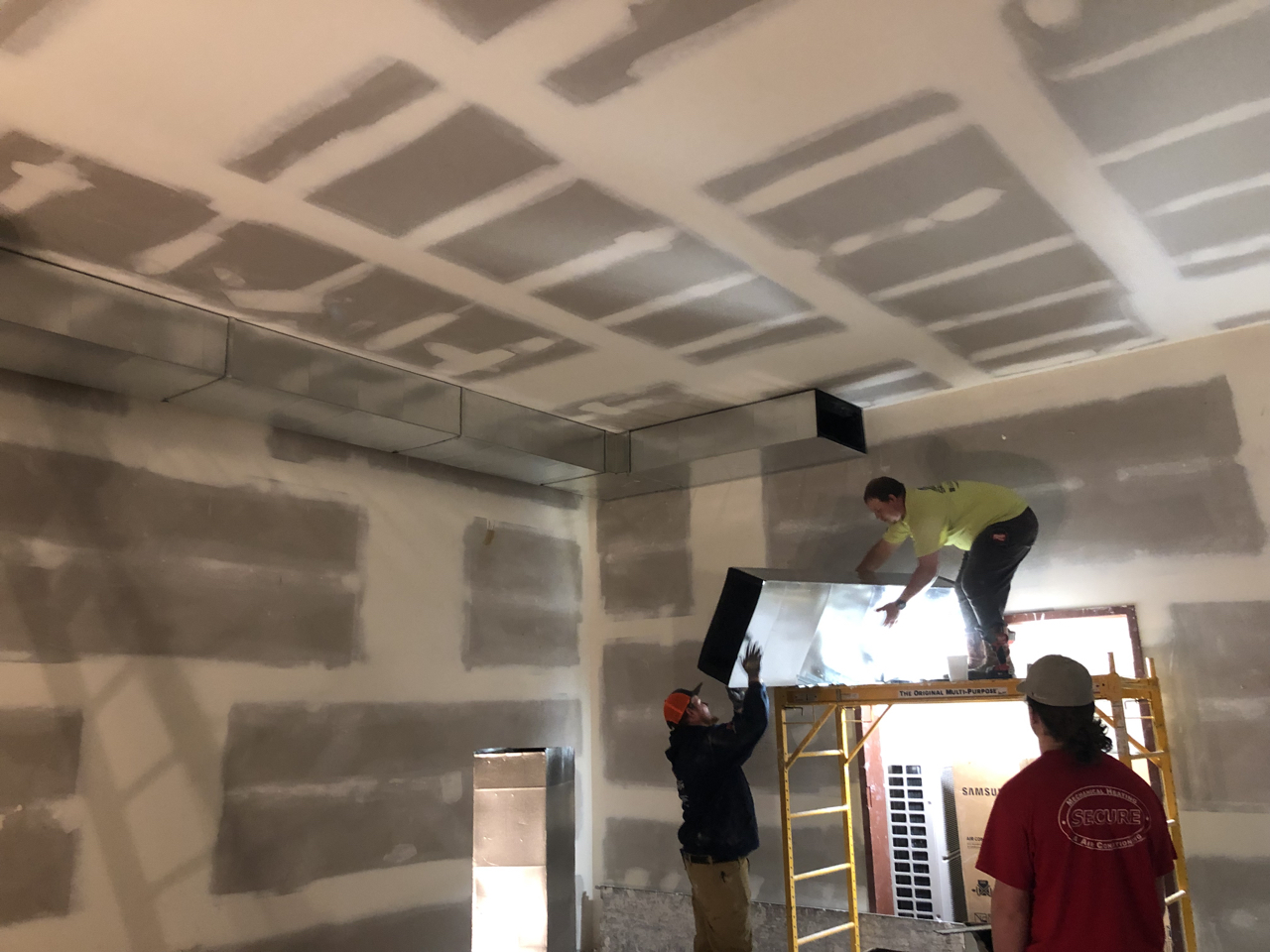 More ductwork in tracking room 2.