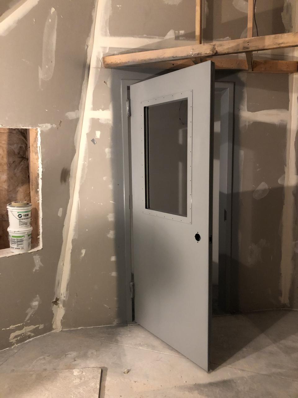 The door from control room 2 into machine room 2.