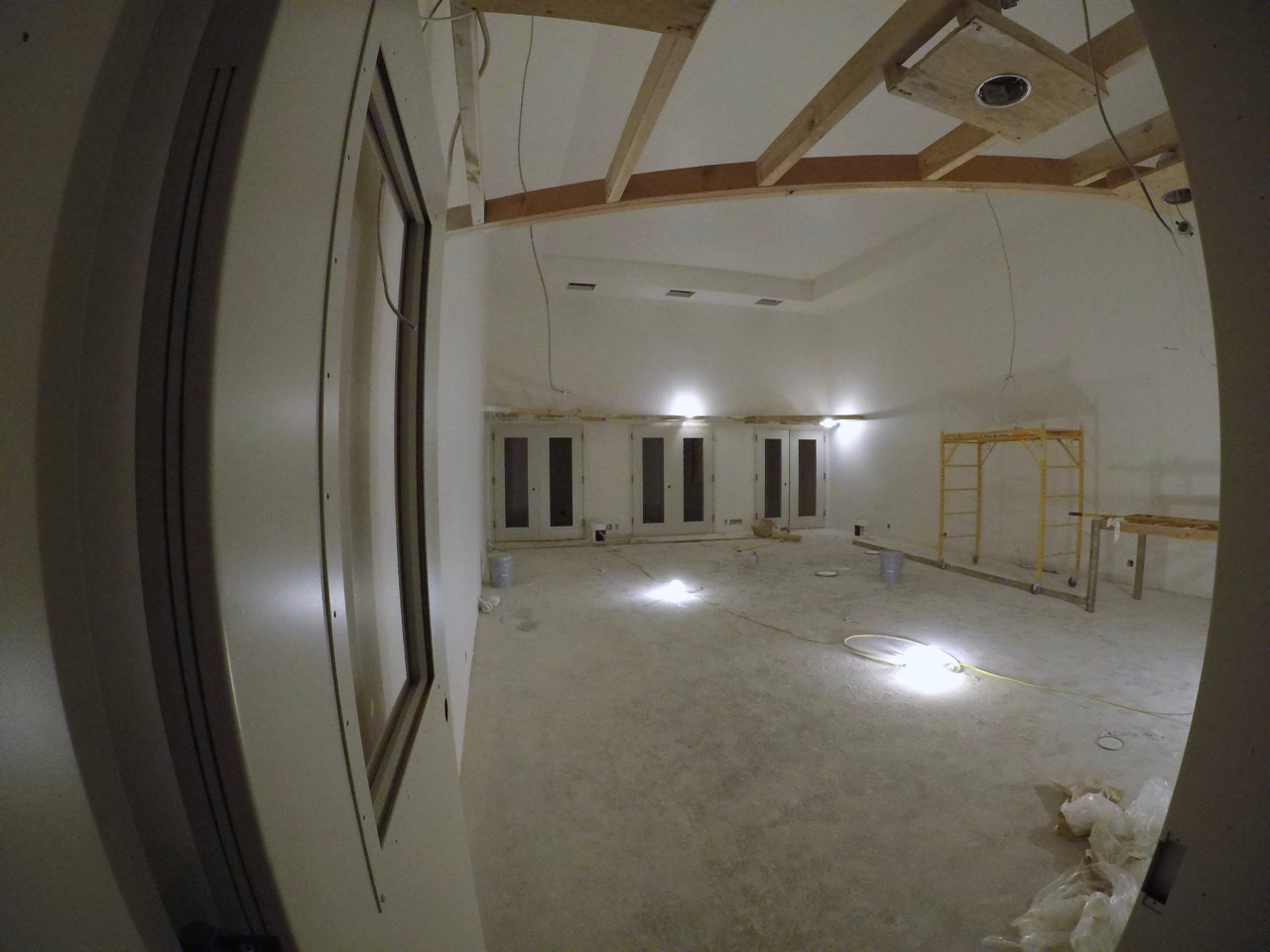 Tracking room 1 with paint complete.