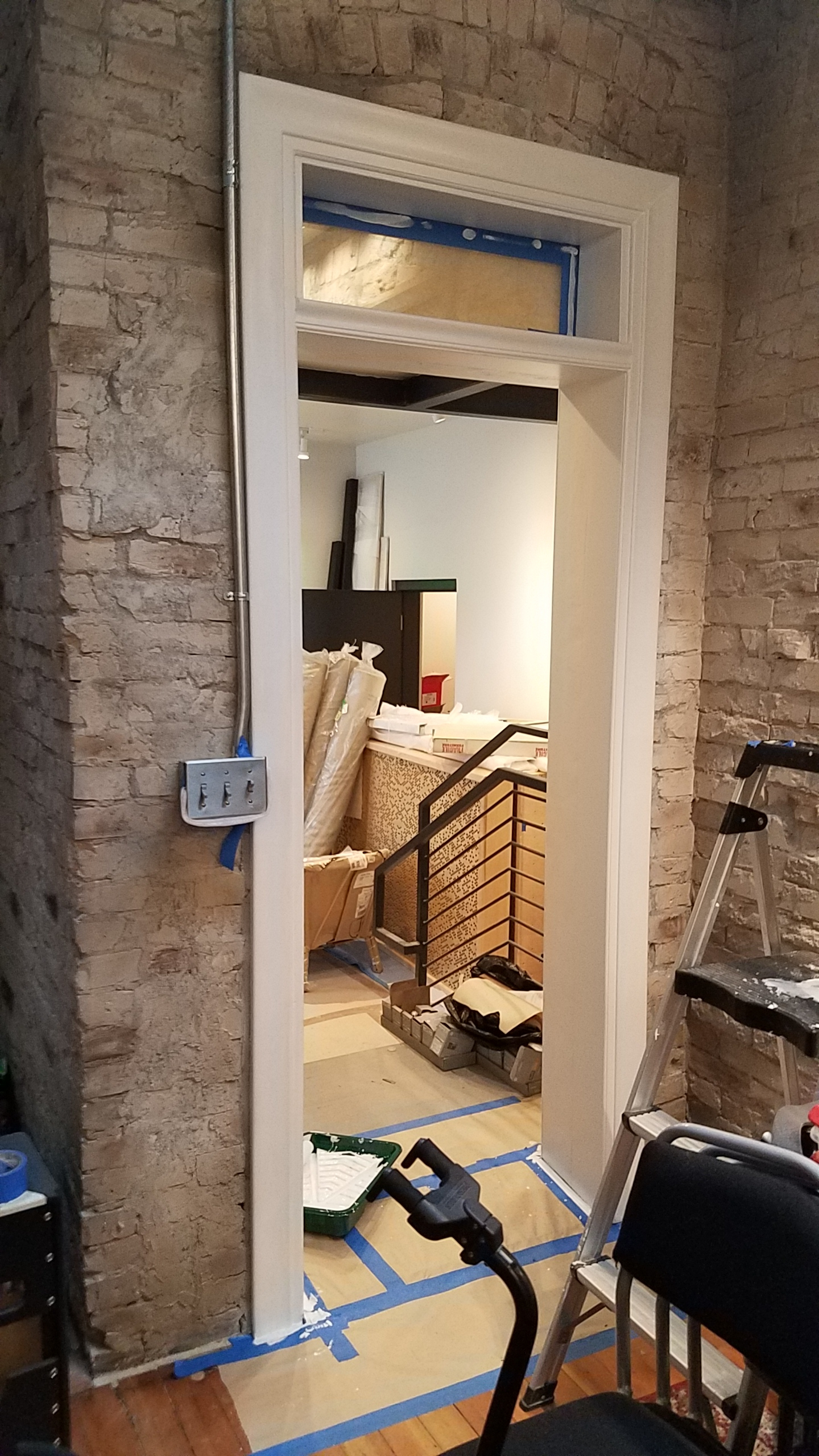 The back door of the house / passage between the lounge and the lobby is nearly finished.