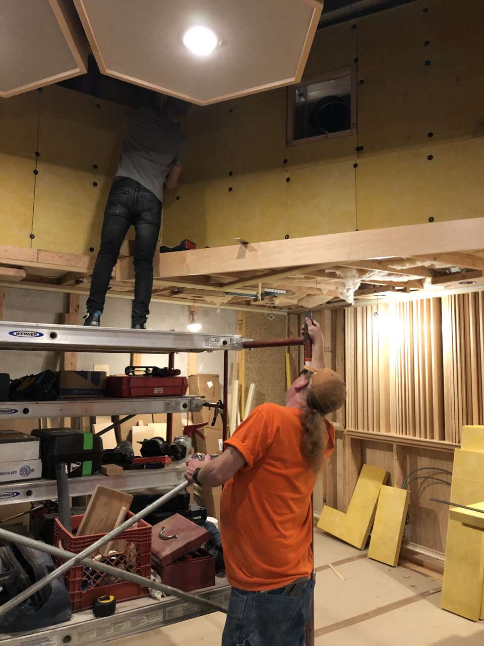 705 going up in the control room 1 soffit returns.