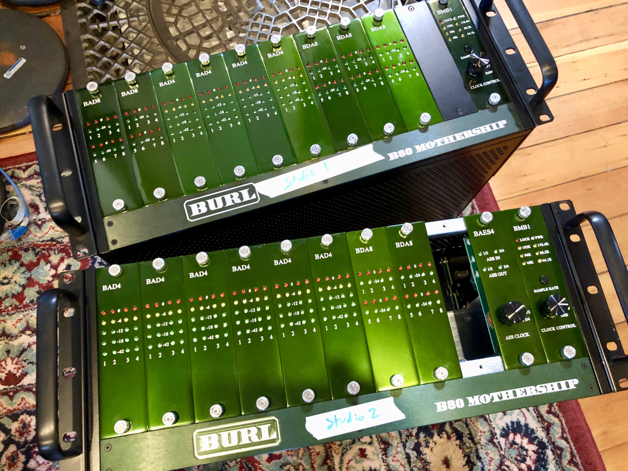 Getting the Burl Motherships configured for the two studios. Studio 1 will be 32 in 32 out and studio 2 will be 24 in 24 out.