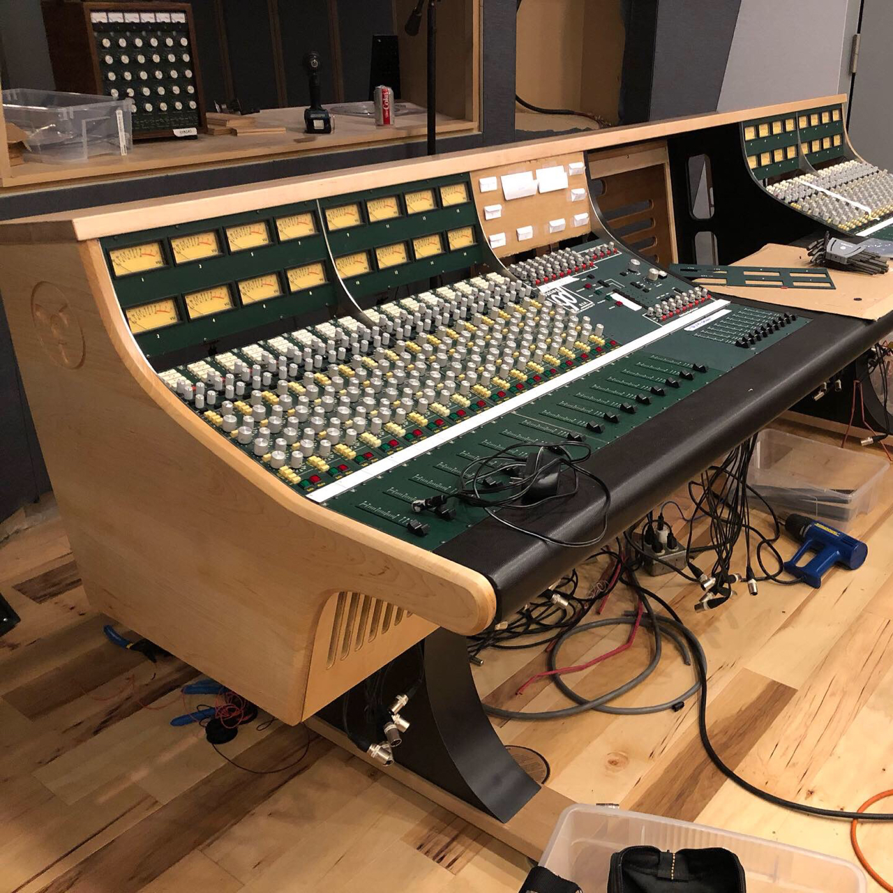 The Daking is such a great sounding console, but its former frame and trim left something to be desired. Brett Acoustics did an amazing job with the new desk.