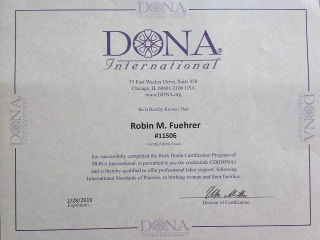 DONA International Birth Doula Certification