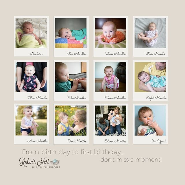 I LOVE getting to stop by clients homes every month and photograph all of the awesome things that happen in the First Year!  And parents love not having to pack up baby and go out in this crazy weather for photographs! #birthphotography #firstyearphotos
