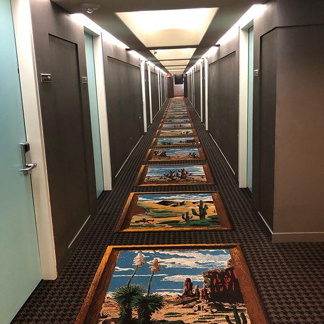 Scenic hallways.