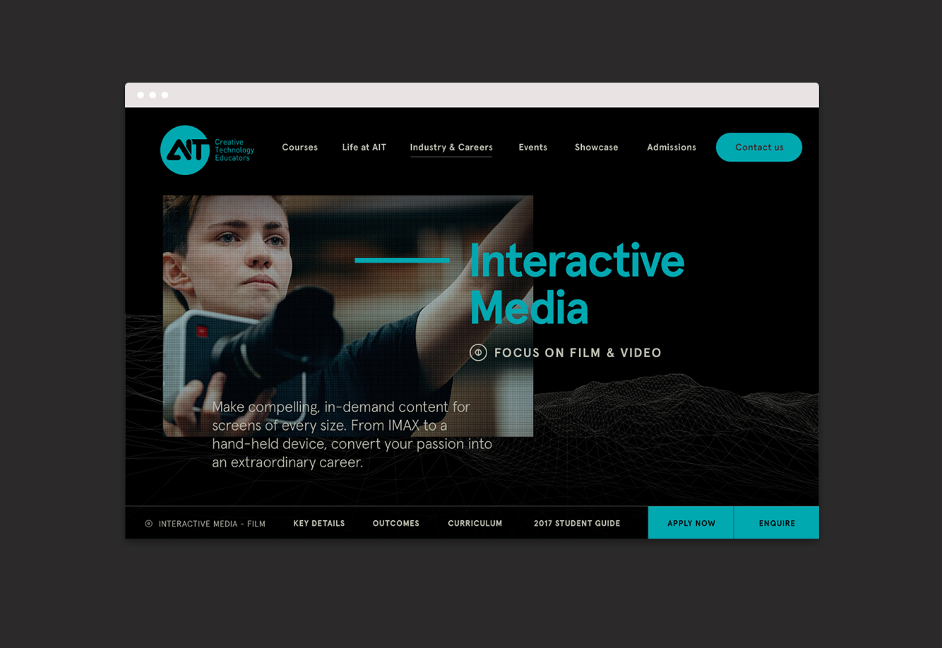 Academy of Information Technology – Content Planning & UI