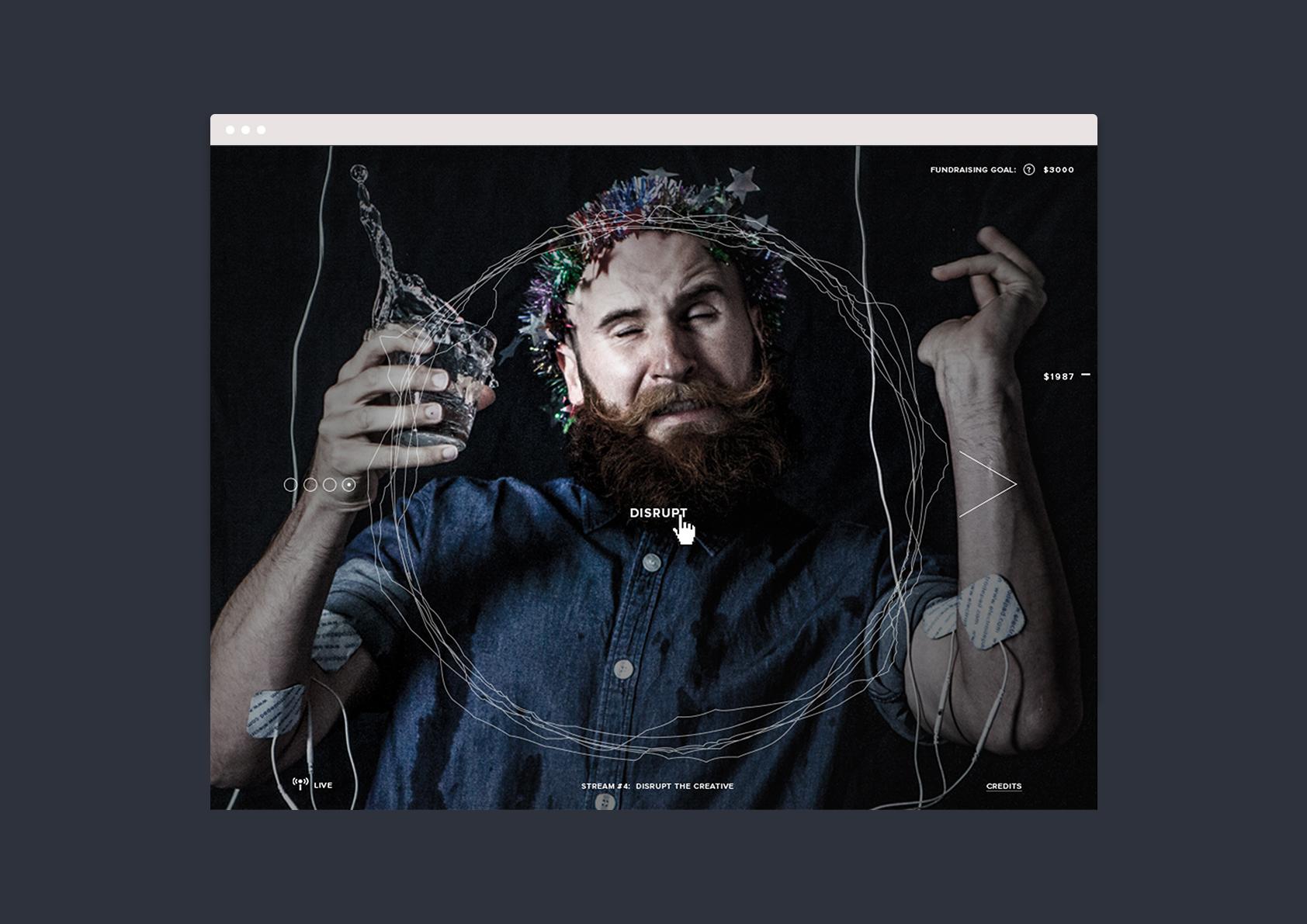 Disrupt Xmas – Interface Design
