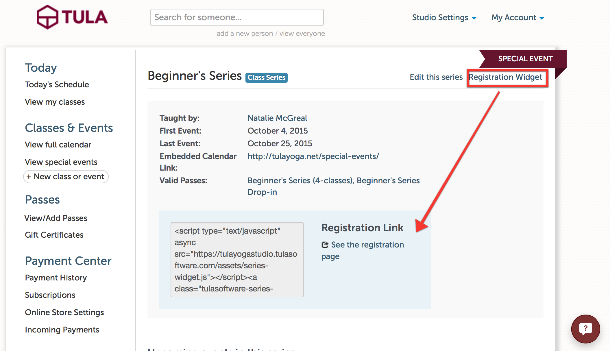 Copy/paste the link for quick access, or embed the widget into your website for a custom feel.