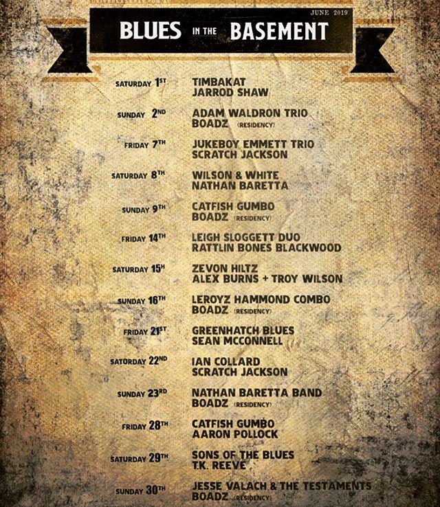 June Live music calendar @ Beneath Driver Lane #liveneverdies